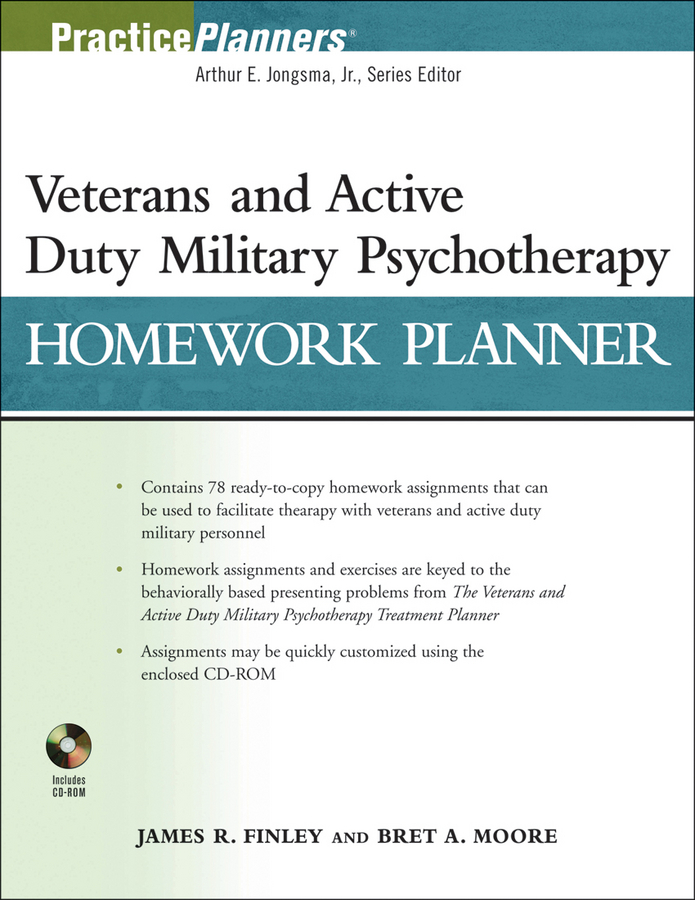 Finley James R. Veterans and Active Duty Military Psychotherapy Homework Planner