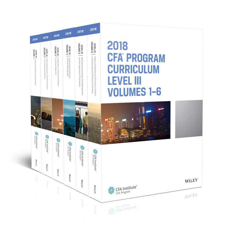 CFA Institute CFA Program Curriculum 2018 Level III