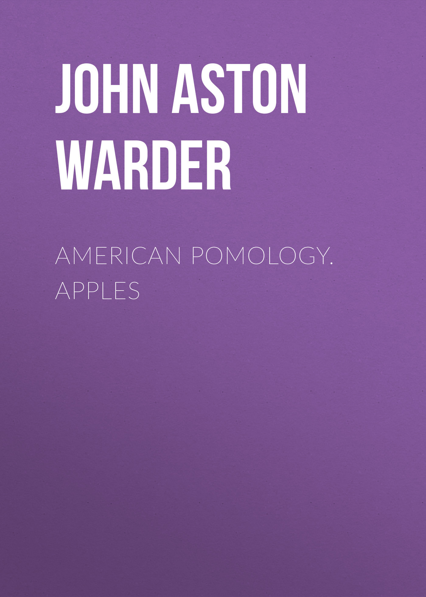 American Pomology. Apples