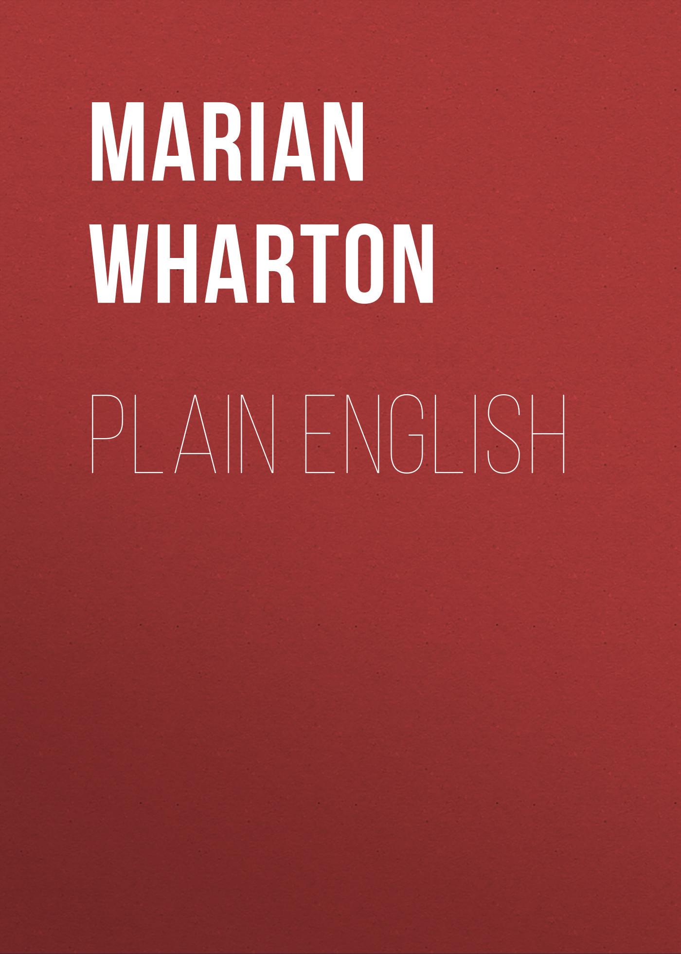Marian Wharton Plain English xml in plain english