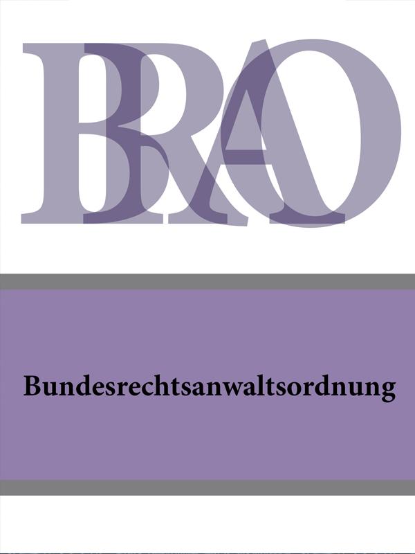 Deutschland Bundesrechtsanwaltsordnung – BRAO ботинки der spur der spur de034amwiz42