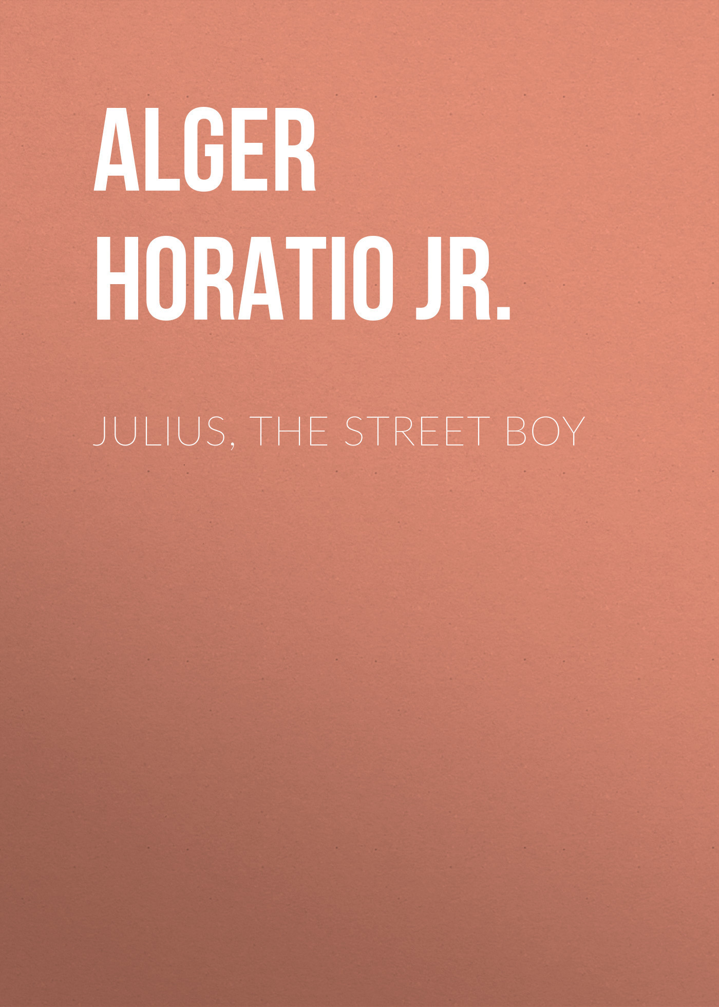 Alger Horatio Jr. Julius, The Street Boy horatio alger jr bernard brooks adventures the experience of a plucky boy