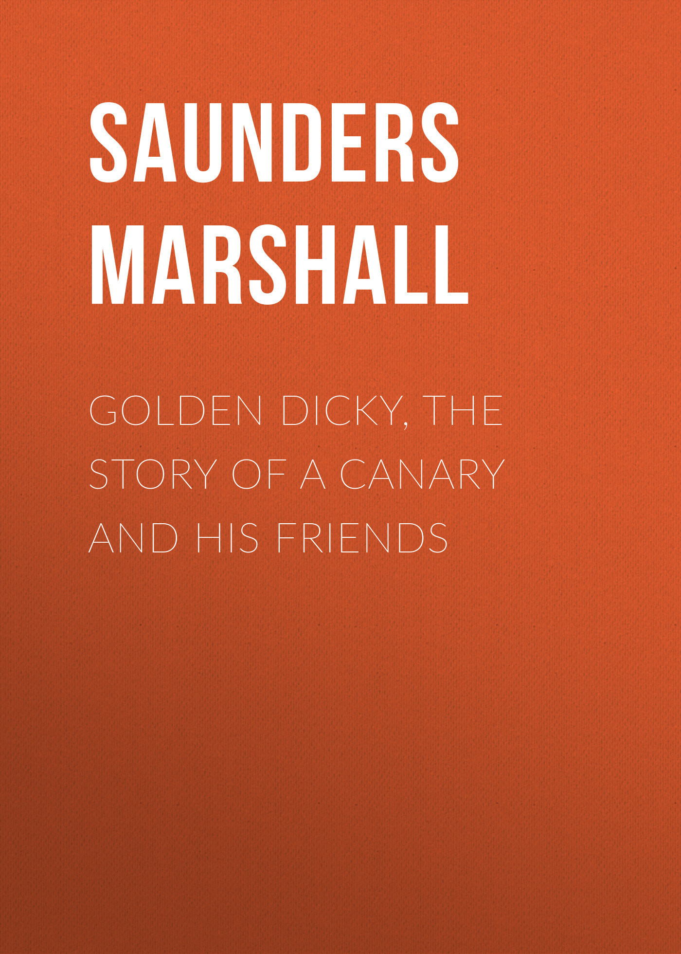 Saunders Marshall Golden Dicky, The Story of a Canary and His Friends пальто alix story alix story mp002xw13vur