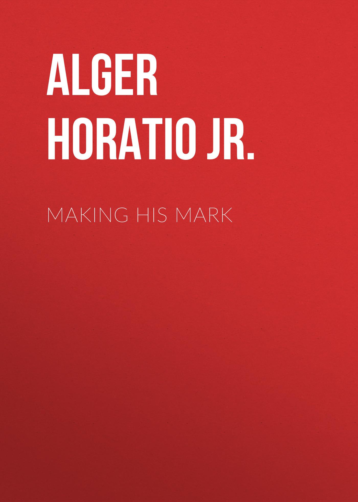 Alger Horatio Jr. Making His Mark box making