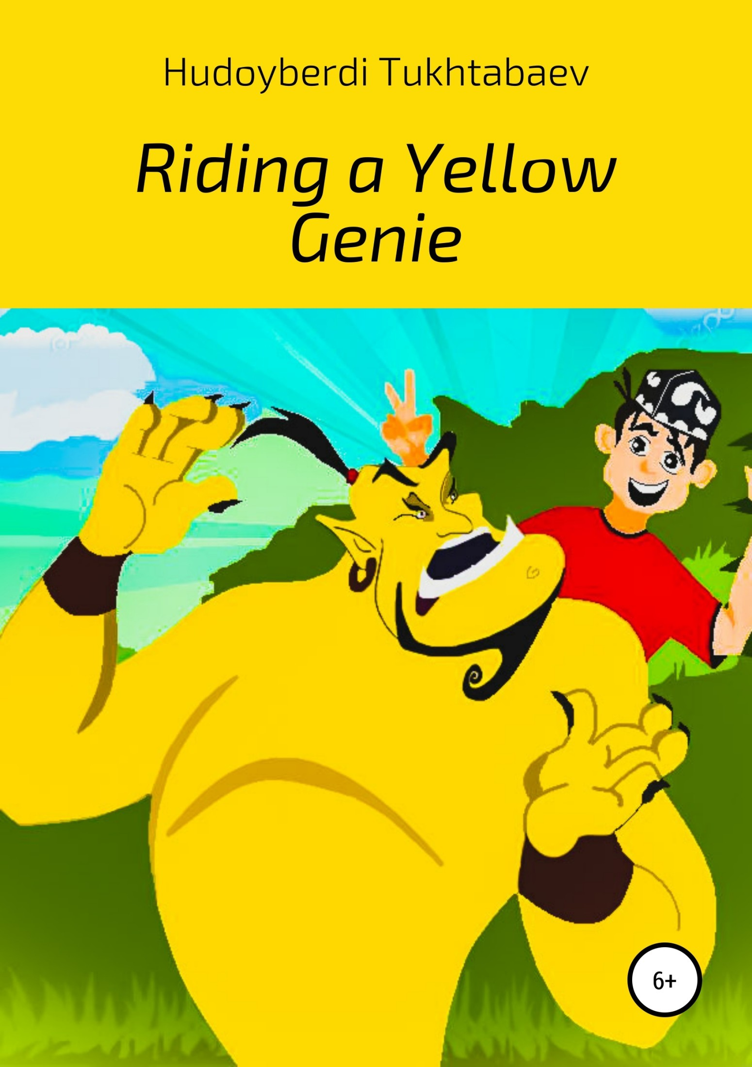 Riding a yellow genie