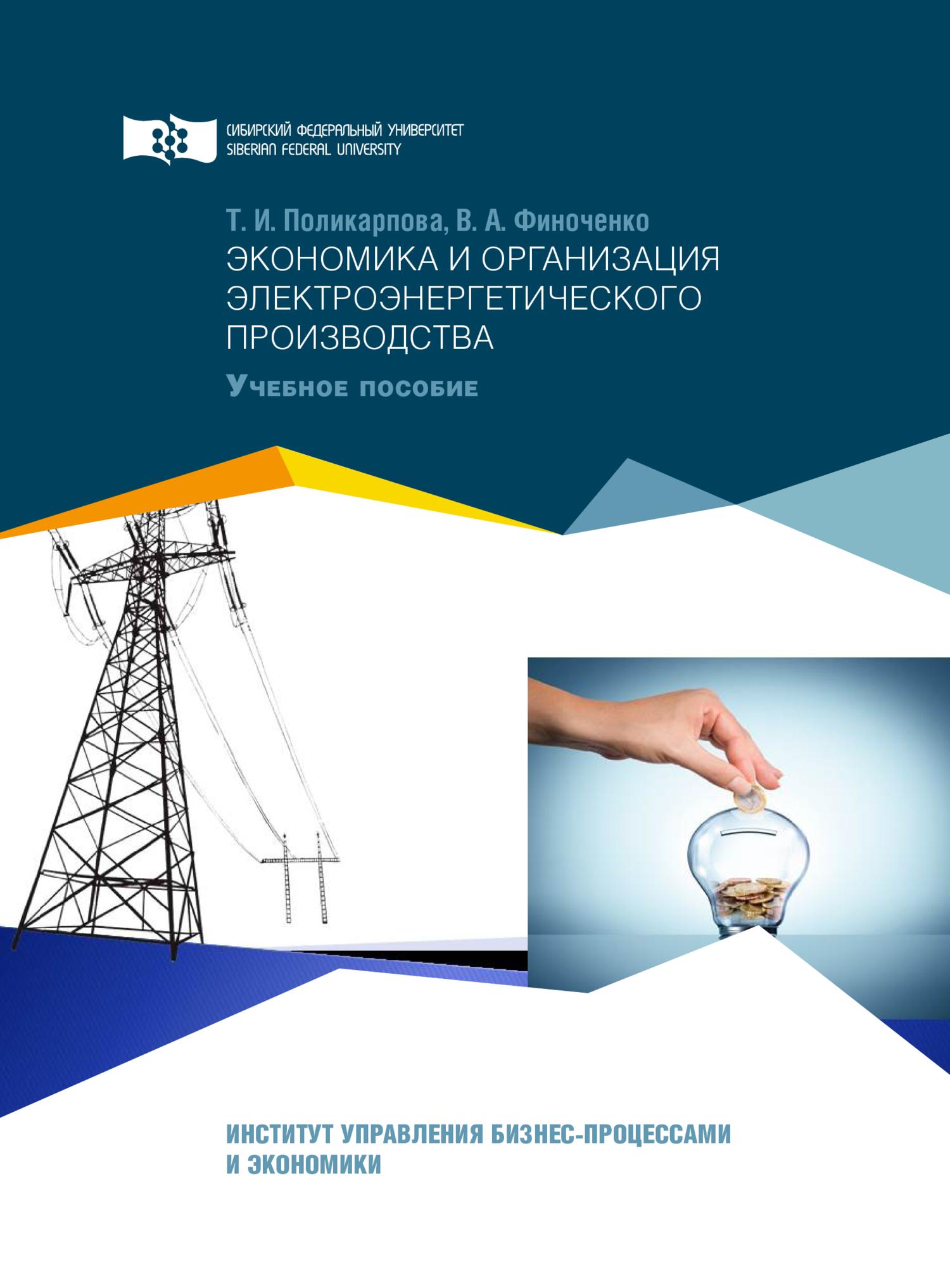 Экономика и организация электроэнергетического производства
